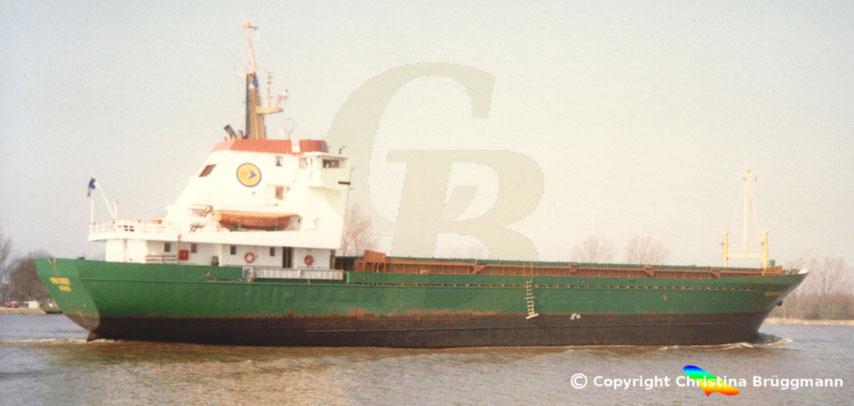 Mehrzweckfrachter MINIFOREST, Hugo-Peters-Look, Nord-Ostsee Kanal 1989