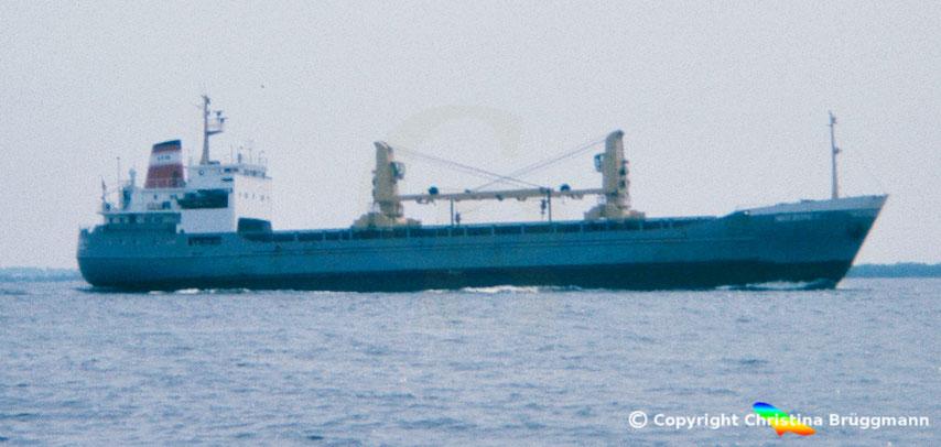 Container- u. Mehrzweckfrachter INGEBORG II, Sietas Typ 67, Elbe 1983
