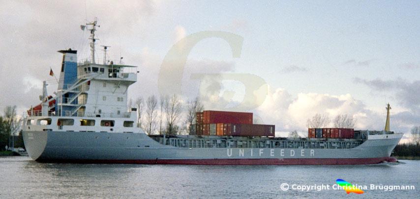 Containerschiff Wega, Sietas-Typ 124, 1989