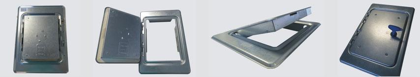 Trappes de cheminée avec clé carrée