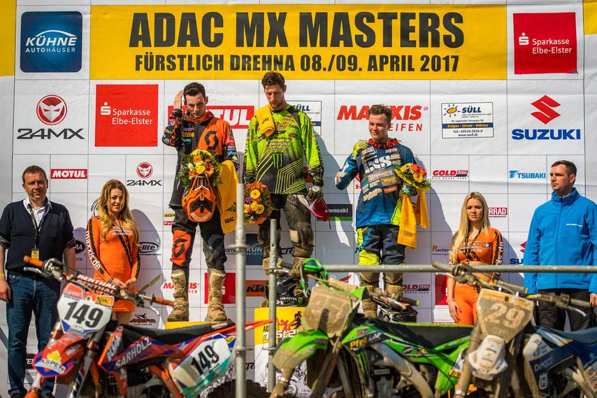 ADAC MX MASTERS FÜRSTLICH DREHNA - Henry Jacobi auf dem Podium