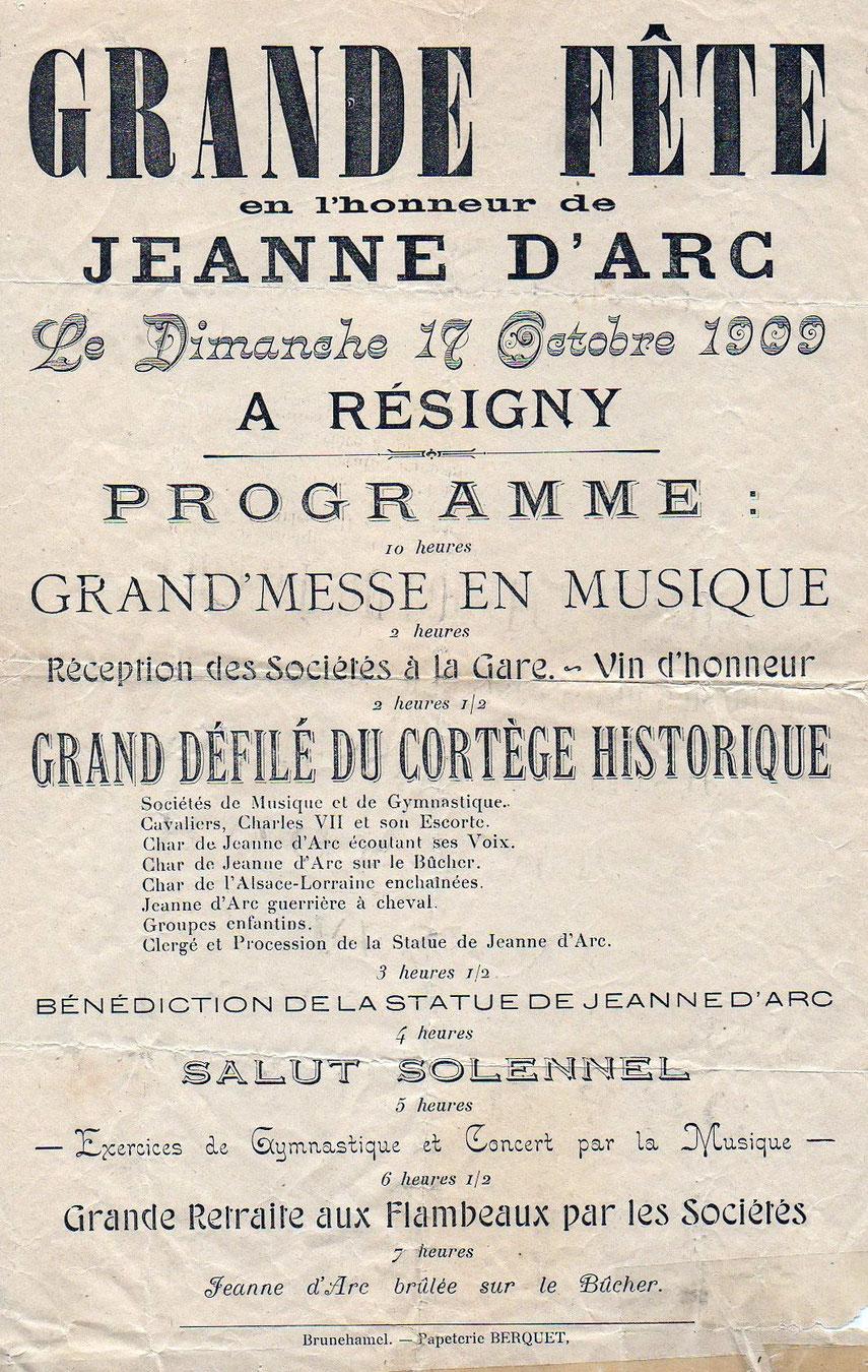 Remerciement à Mr et Me Chesneau de Grandrieux