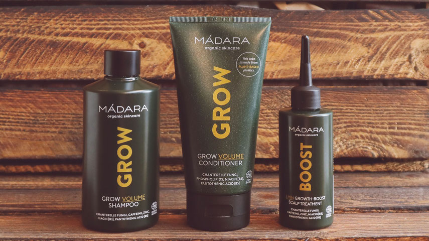 Mádara Grow Volume Haarpflegeprodukte bei BioBalsam
