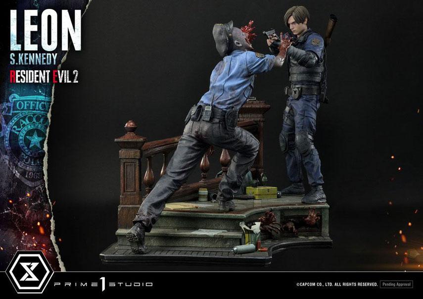 Leon S. Kennedy Resident Evil 2 Statue 58cm Video Game Diorama Prime 1 Studio