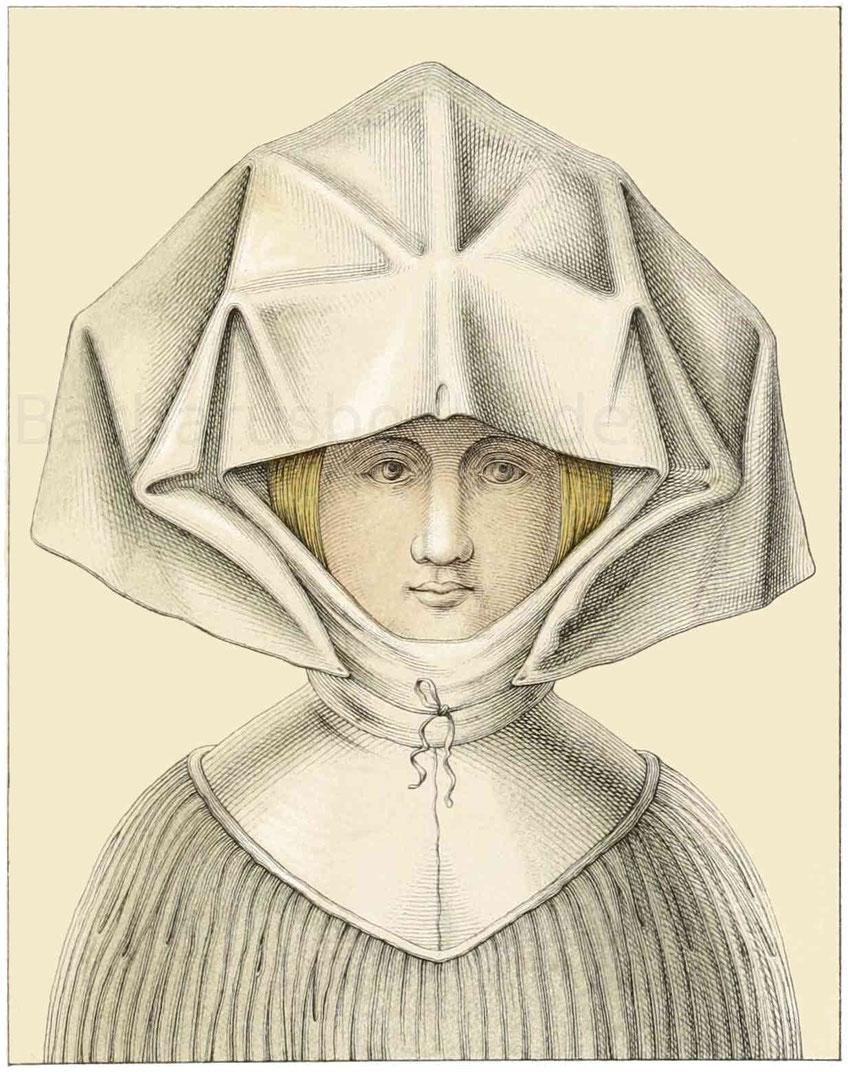 Frauenkopfputz aus der ersten Hälfte des 16. Jahrhunderts