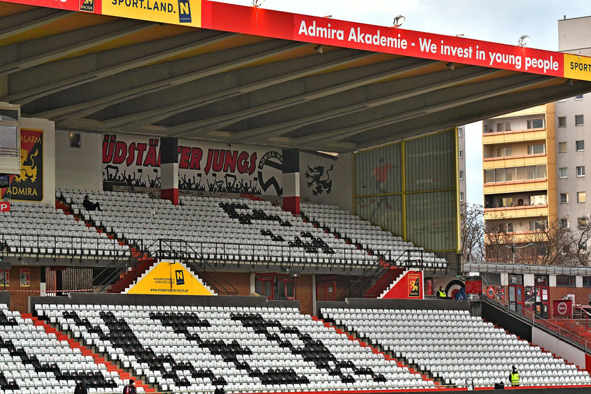 Ein trauriges Bild bietet sich derzeit in der Südstadt - viele Fans wollen schon bald wieder ins Stadion
