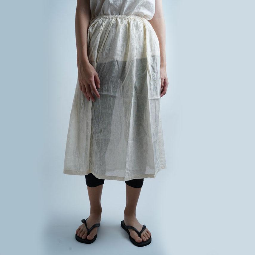 ヂェン先生の日常着 綿麻 ペチコート 自然素材 丈感
