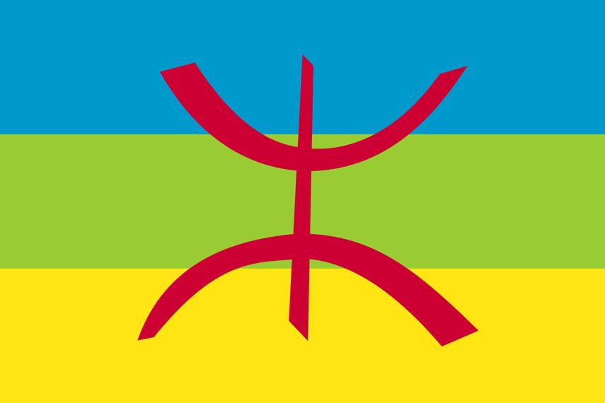 Il simbolo dei Berberi, ovvero la lettera yaz dell'alfabeto tifinagh, utilizzata per evocare il concetto di ''uomo libero''