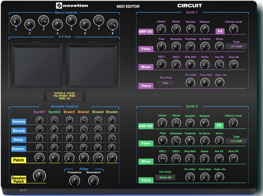 "Novation Circuit ""MIDI EDITOR / REMOTE/ CONTROLLER, VST and Standalone"""