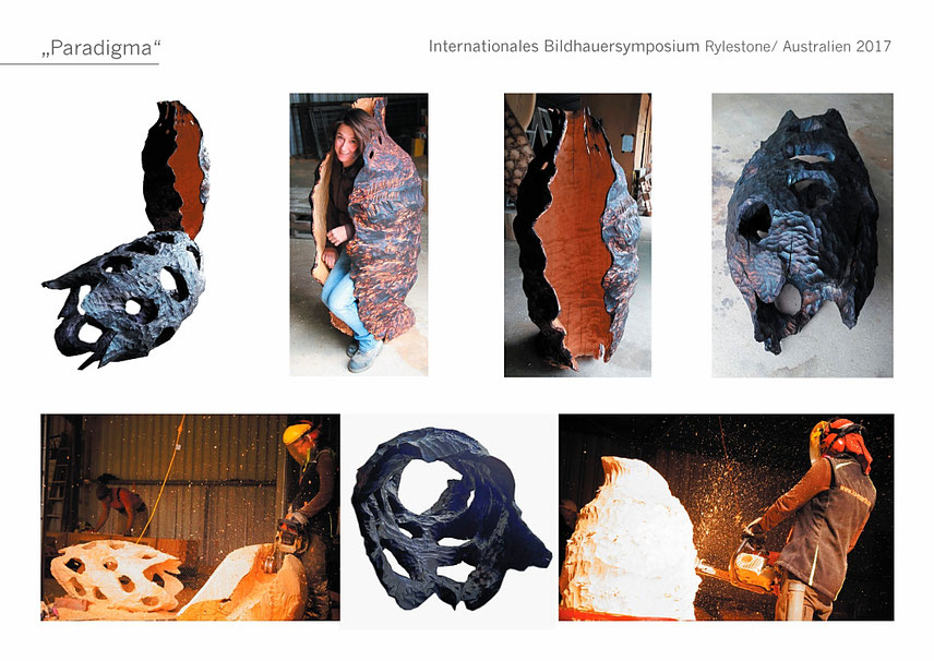 #Australien #Rylestone #Eukalyptus #Katharina Mörth #Contemporaryart #Sculpture #Skulptur #Holz  #Design #Kunst #Gartendesign #Gardensculpture #Wood