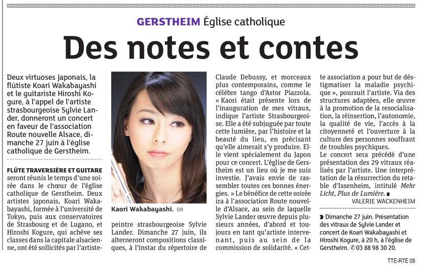 Kaori Wakabayashi-Concert Gerstheim-Vitraux Sylvie Lander