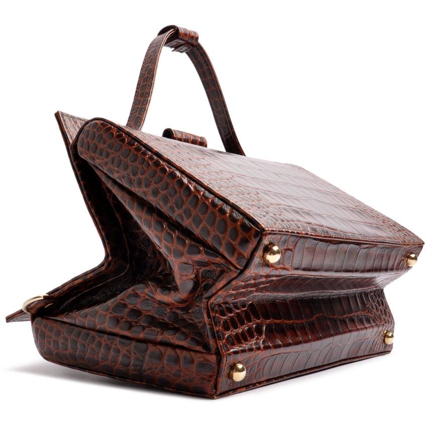 Ledertasche im Vintagestil braun OSTWALD Traditional Craft