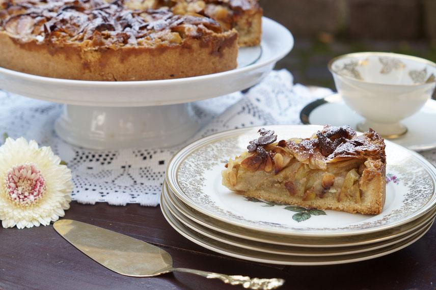 Apfelkuchen mit Mandel-Knusper