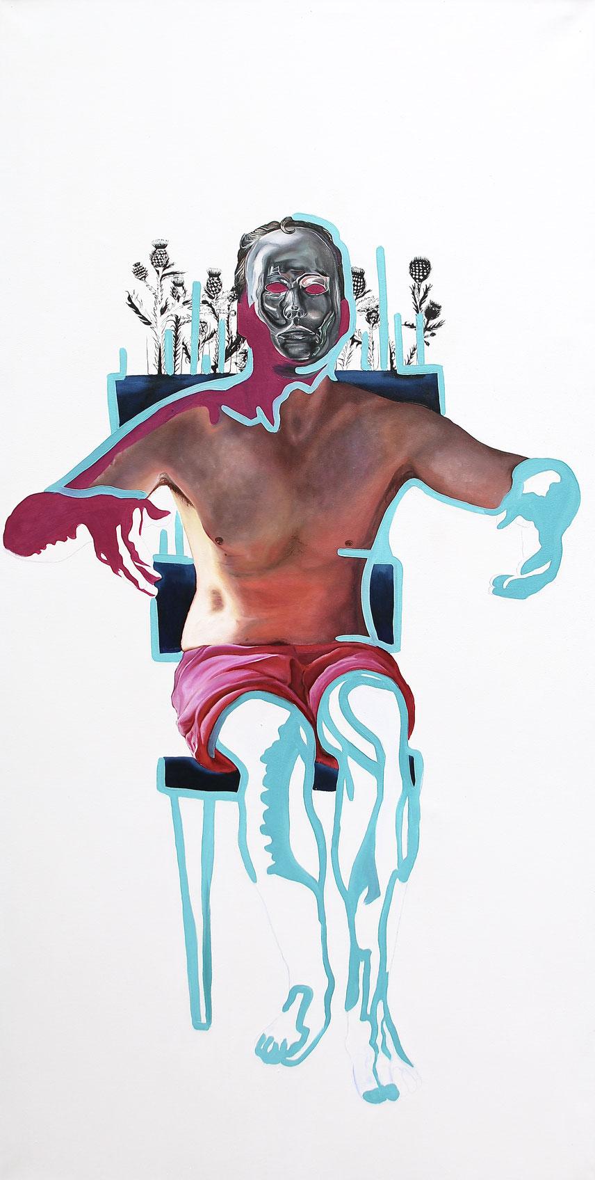 Trans/Masc, (Serie 1), #2, 2019, Öl auf Leinwand, 200 x 101 cm