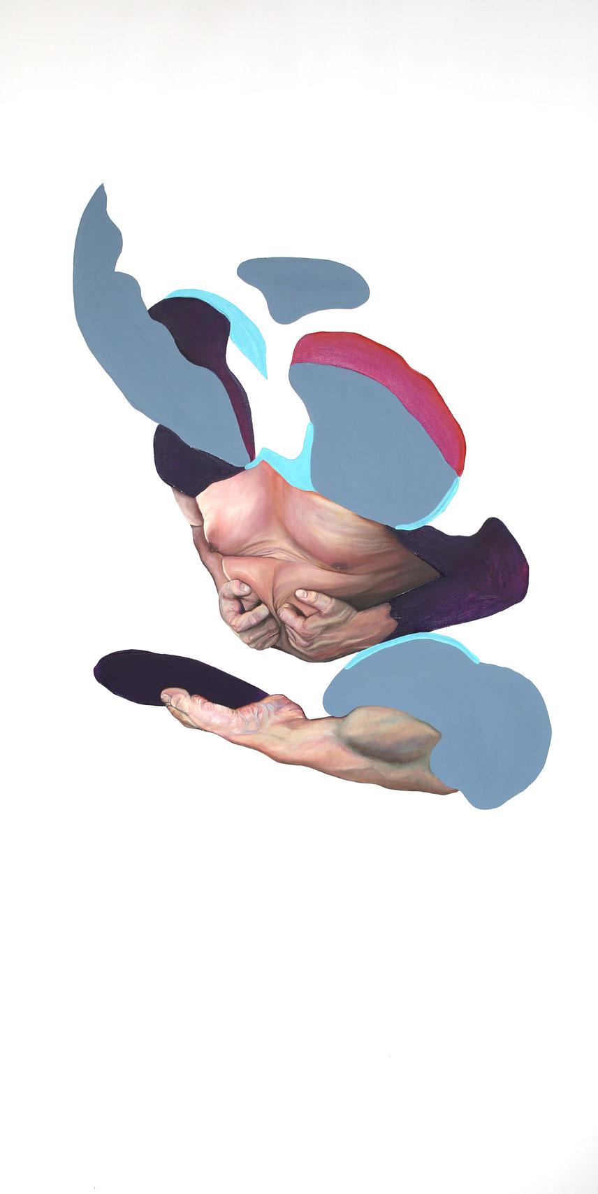 Trans/Masc, (Serie 3), #15, 2021, Öl auf Leinwand, 200 x 101 cm