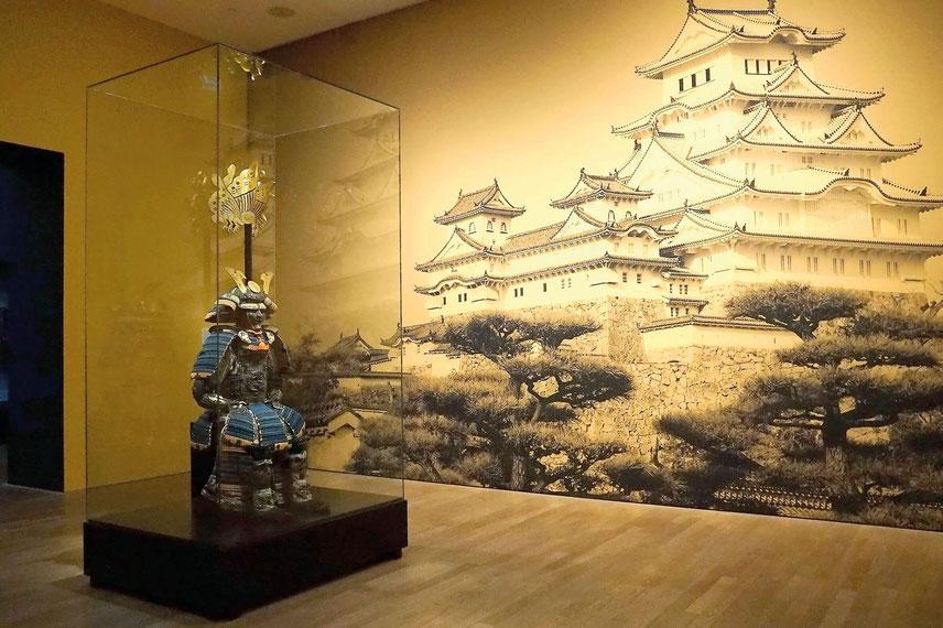 Samurai der Edo Zeit in voller Rüstung, Kunsthalle München 2019