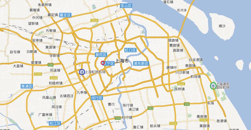 華東師範大学 上海虹橋空港 上海浦东空港の位置