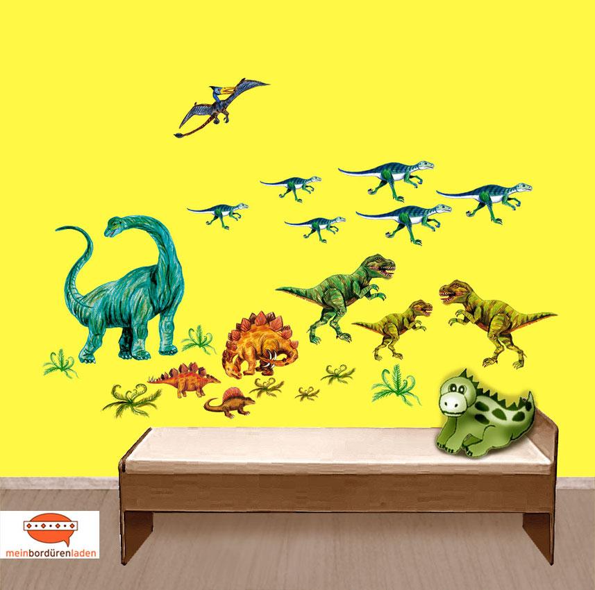 Wandtattoo-Set: Urzeit Dinos - 21 teilig