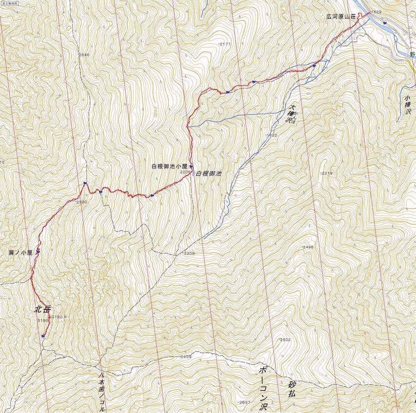 北岳ルート図