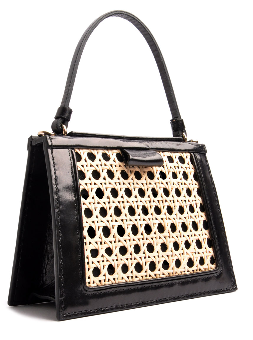 """OSTWALD Bags .  Tote Leatherbag black .  """"Viennese Mash"""" Edition Niely Hoetsch"""