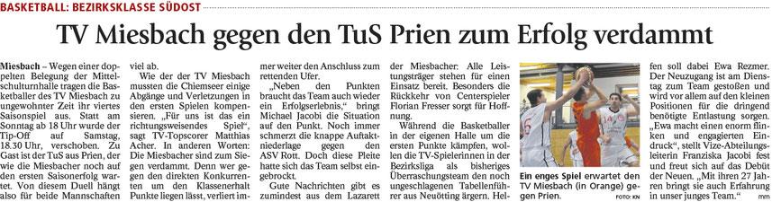 Artikel im Miesbacher Merkur am 11.11.2017 - Zum Vergrößern klicken