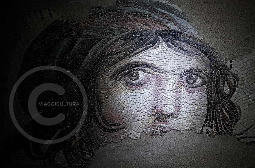 The Gypsy Girl: il mosaico della ragazza zingara (II sec. d.C.) Villa di Menade - Museo dei mosaici di Zeugma
