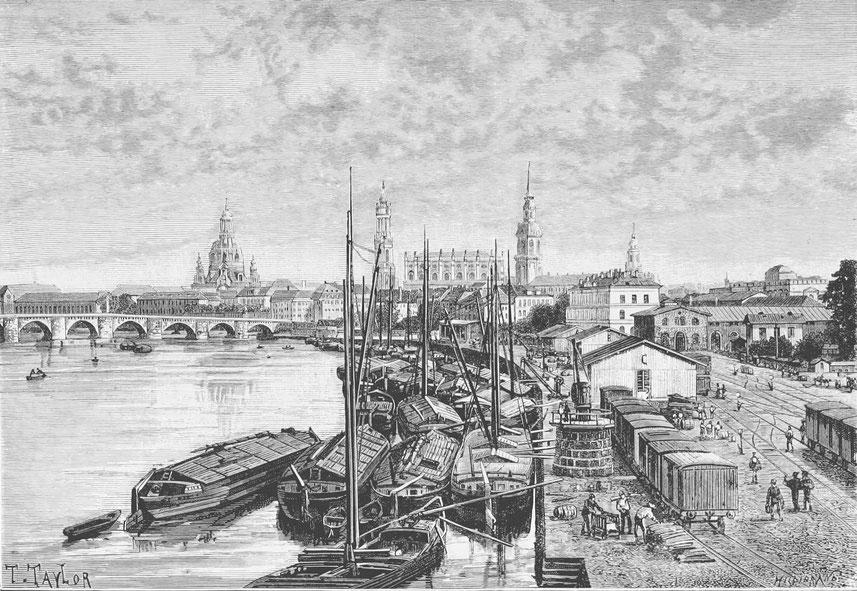 Dresden Marienbrücke des 19. Jahrhunderts Symbolbild zum Blogartikel