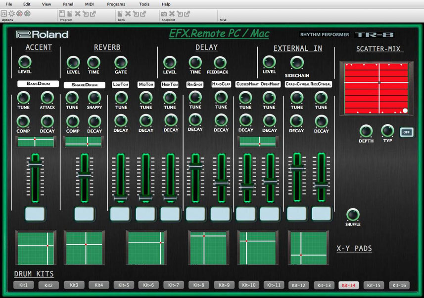 "Roland Aira TR-8 Rhythm Performer-Midi Editor ""PC / MAC"" / VST and Standalone"