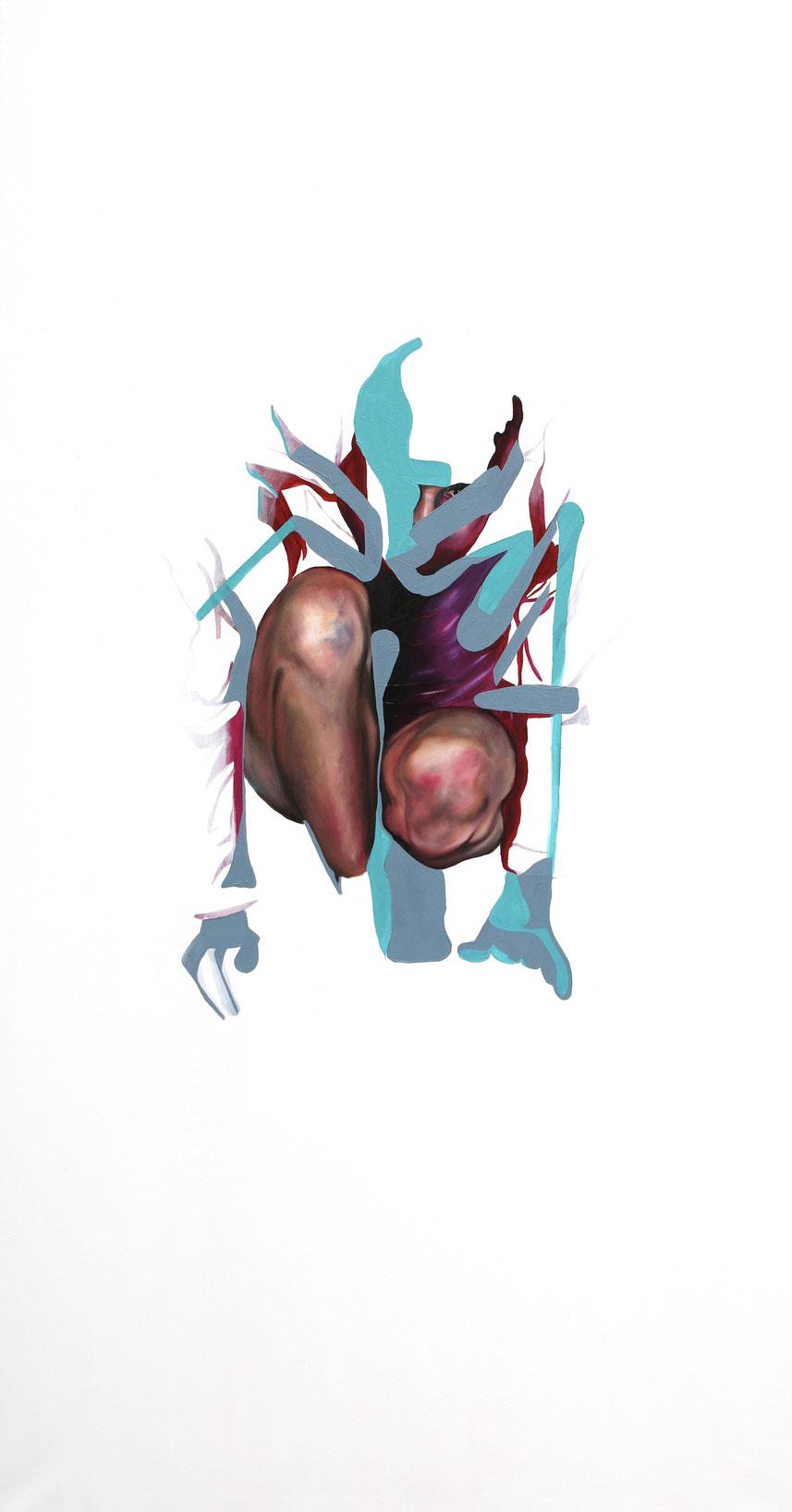 Trans/Masc, (Serie 3), #12, 2021, Öl auf Leinwand, 200 x 101 cm