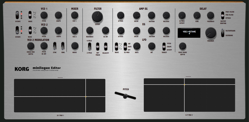 "Korg MiniLogue ""MIDI EDITOR / REMOTE""/ CONTROLLER, VST and Standalone"