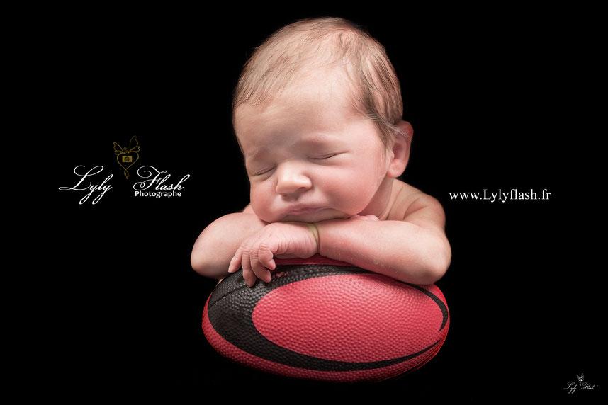 photographe naissance bébé rugby nemecek XV