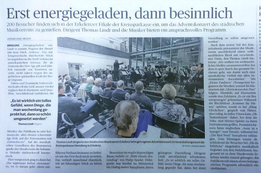Rheinische Post vom 11.12.2017 - Artikel zum Vergrößern einfach anklicken