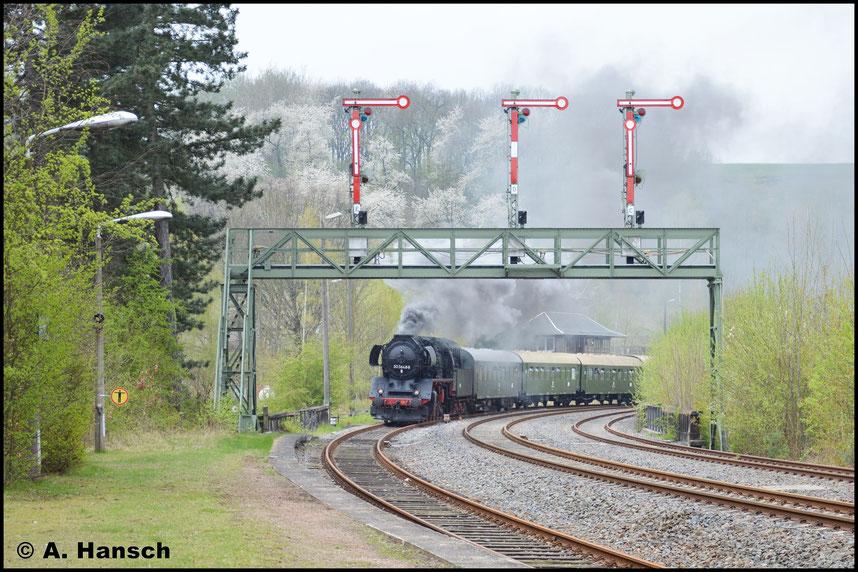Die Signalbrücke auf der Döbelner Seite ist ein bekanntes und beliebtes Motiv bei Eisenbahnfotografen. So war ich dort auch nicht allein