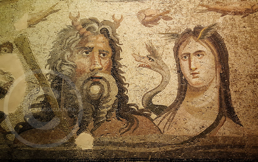 Mosaico di Oceano e Teti, Casa di Oceano (II-III sec. d.C.) - Museo dei mosaici di Zeugma