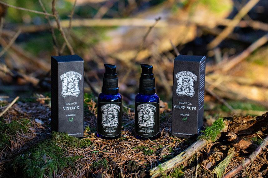 Bartöl Geschenkset im Wald