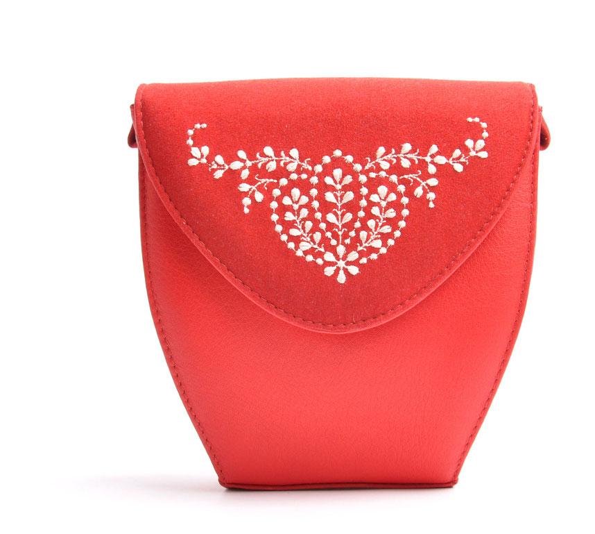 Dirndltasche MARLA rot Leder online versandkostenfrei kaufen OSTWALD Traditional Kraft