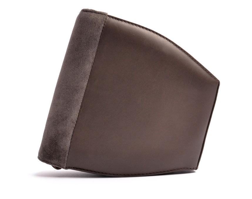 Wiesntasche Trachtentasche MARLA Leder grau  mit Stickerei OSTWALD Traditional Craft