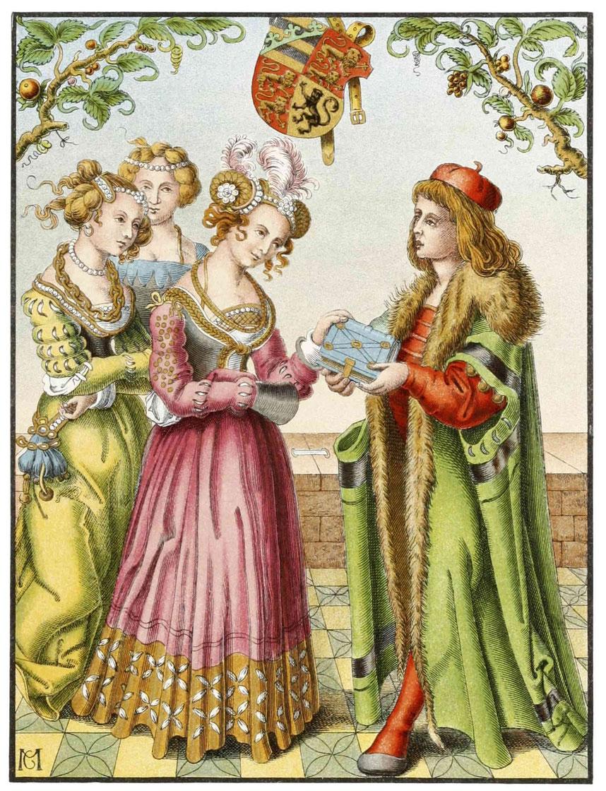 Katharina, Herzogin von Braunschweig, und Doktor Eucharius Rößlin (1513)
