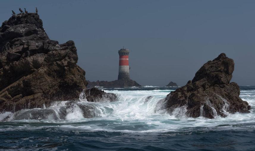 houle en Bretagne dans l'archipel du finistère