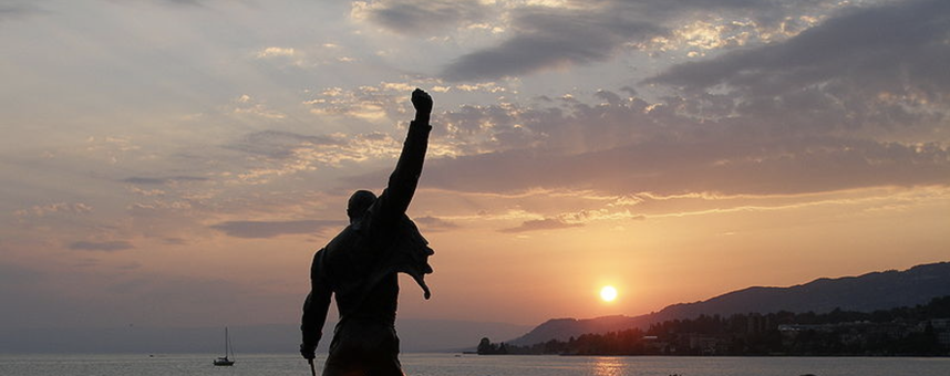 Freddy Mercury Bronzestatue in Montreux