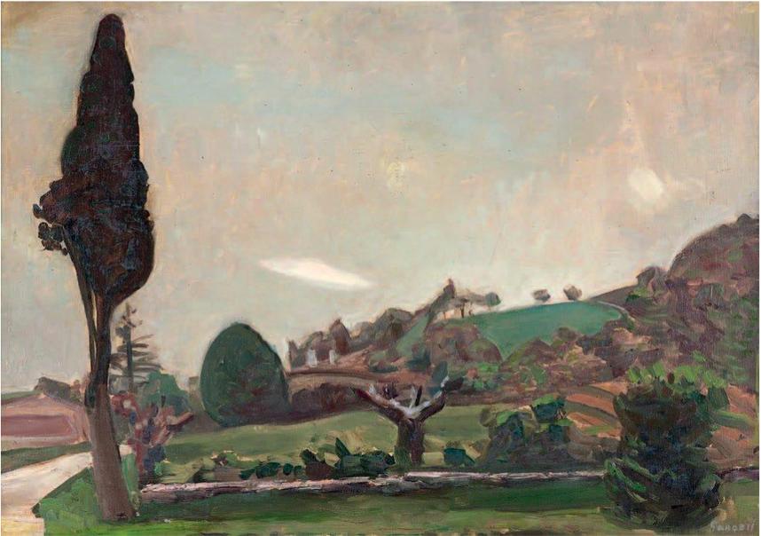 Alexandre GARBELL (1903-1970) Paysage Huile sur toile, signée en bas à droite 38,5 x 55 cm à la galerie Agnes Thiebault