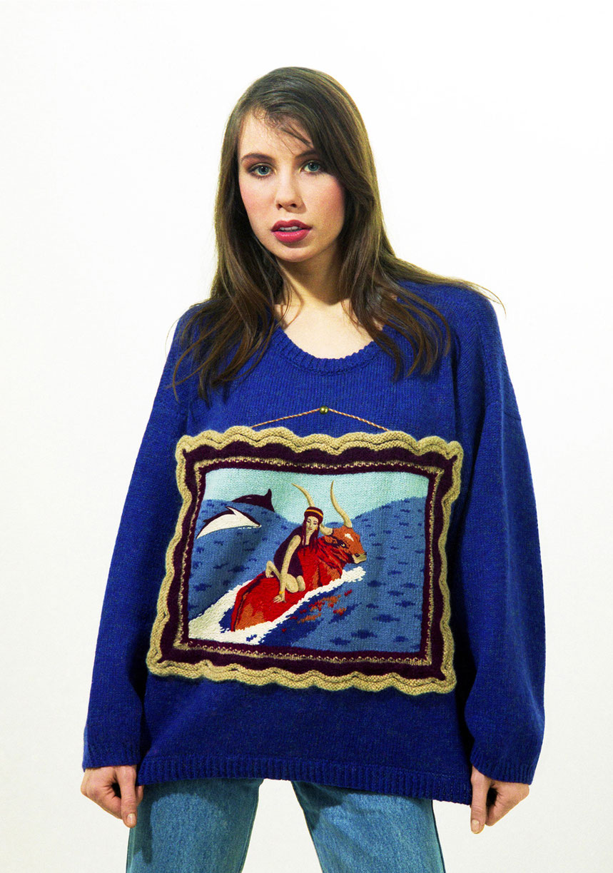 "Alexander Seraphim's knitwear, ""Abduction of Europe"", 1994"