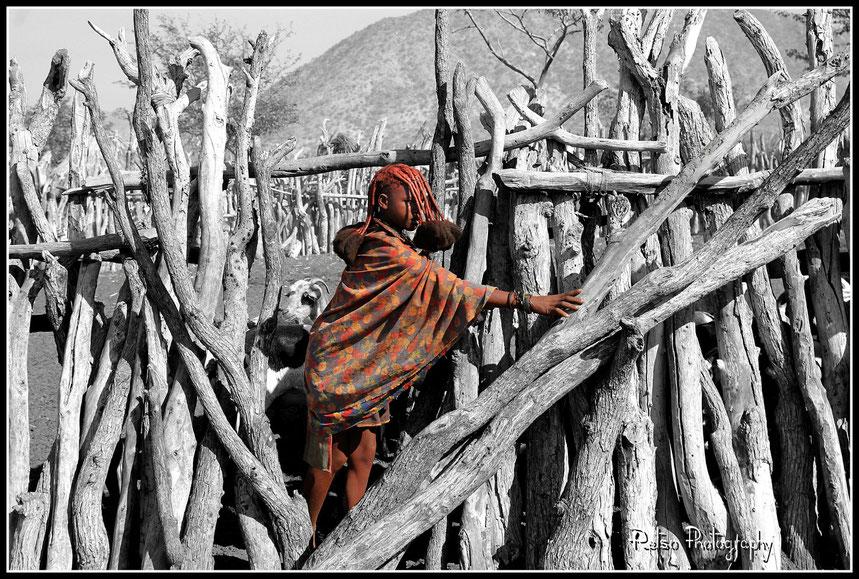Himbas, namibie, namibia, noir et blanc, opuwo, epupa falls