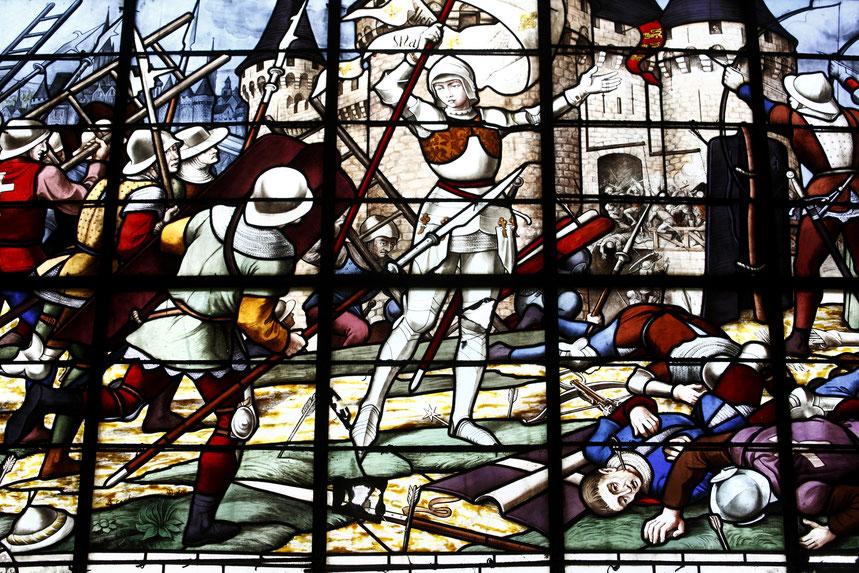 Vitrail de l'église Saint-Sulpice à Fougères © D. Bordes