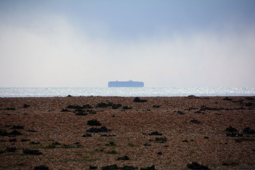 The economic consqeuences of Brexist will be swift and devastating hitting those with least hardest: car carrier off Dungeness Point.
