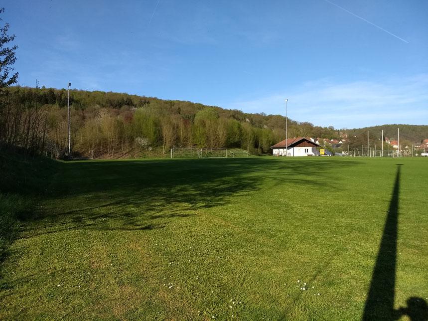 Fußball bzw. Rasensport-Trainingsanlage mit Flutlicht