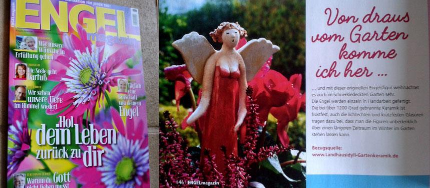 Pressebericht Keramikengel im Engel-Magazin 6/2015