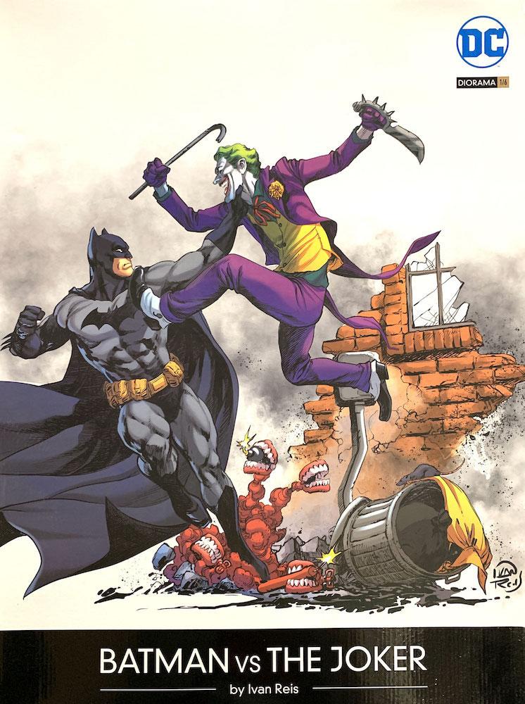 Batman vs Joker Battle 1/6 DC Comics Diorama by Ivan Reis Resin 52cm Statue Iron Studios