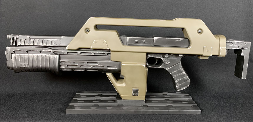 M41A Pulse Rifle Brown Bess Weathered Ver. 1/1 Life-Size Aliens Replik 68cm Alien Hcg