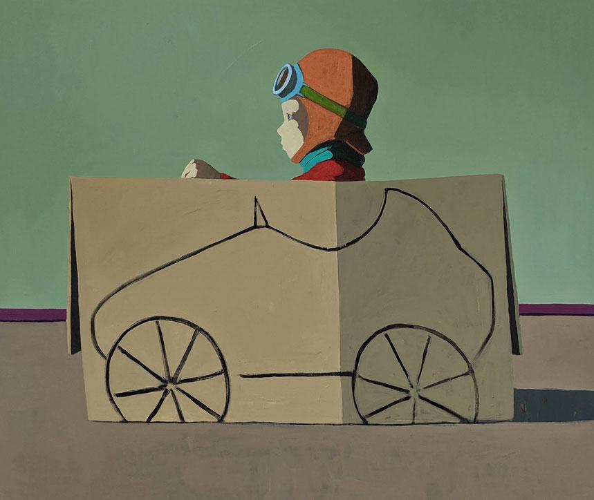 racing box - Acryl auf Leinwand, 100x120cm, 2020 | verkauft